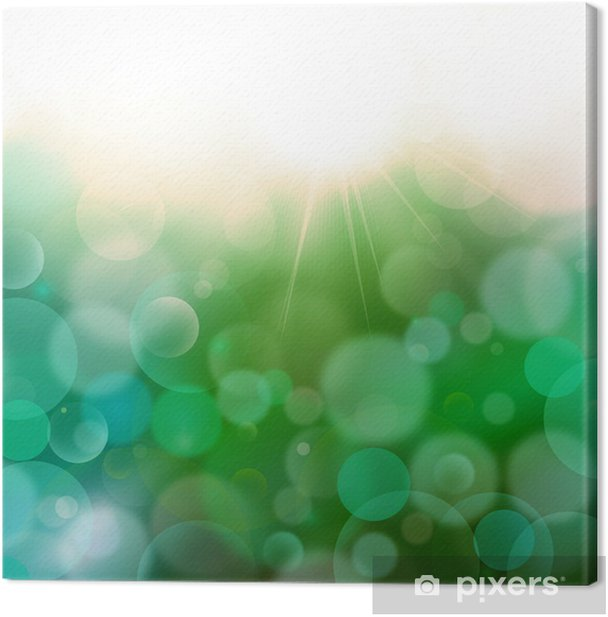 Dark Green-Blue abstract background Airmar 3,light bokeh Canvas Print - Business Concepts
