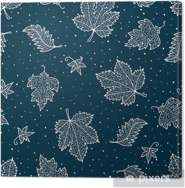 decorative frozen leaves Canvas Print - Graphic Resources