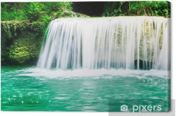 e476a53c1 Deep forest Waterfall in Thailand Canvas Print • Pixers® • We live ...