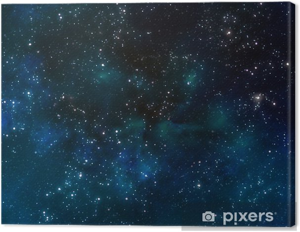 deep outer space or starry night sky Canvas Print - Themes