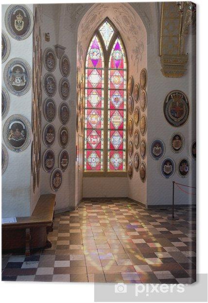 Denmark. Frederiksborg castle, window Canvas Print - Private Buildings