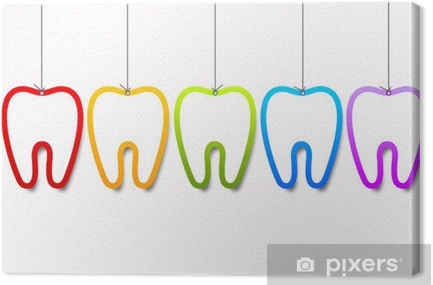 Dental Templates Canvas Print - Health and Medicine