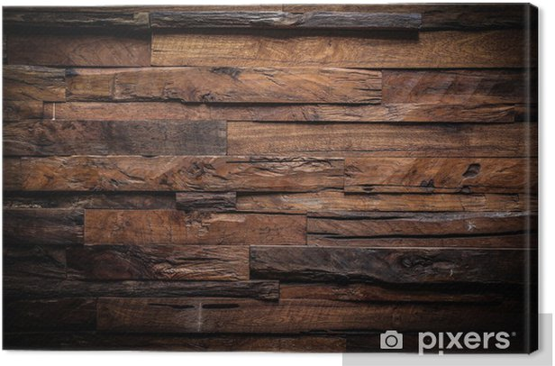 design of dark wood background Canvas Print - Themes