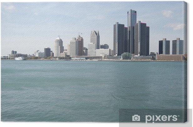 Detroit Skyline Canvas Print - America