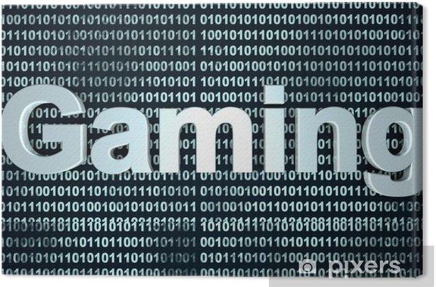 Digital Gaming.. Canvas Print - 3D images