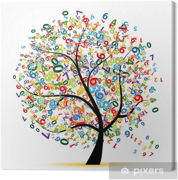 Digital tree for your design Canvas Print - Trees and leaves