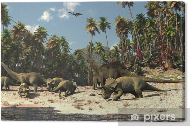 Dinosaures Canvas Print - Themes