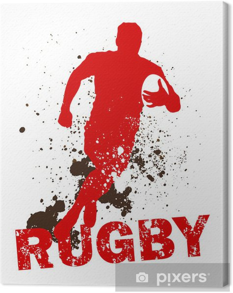 Dirty Rugby Player Canvas Print - Rugby