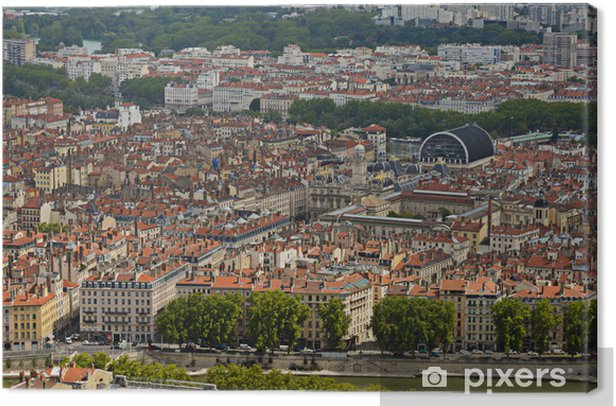 District of Les Terreaux at Lyon city Canvas Print - Europe