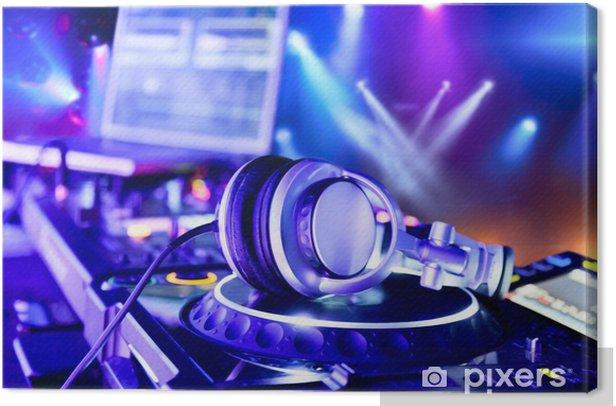 Dj mixer with headphones Canvas Print - Teenage boy's room