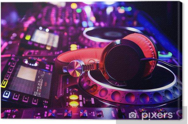 Dj mixer with headphones Canvas Print -