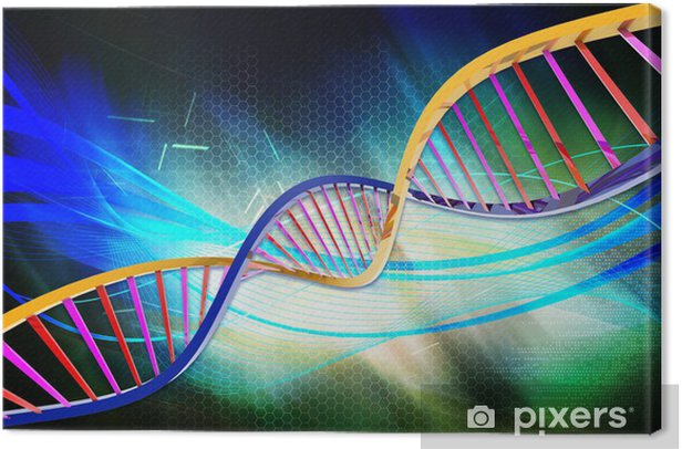dna Canvas Print - Backgrounds