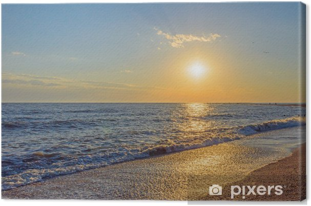 Doljanskaya spit in Russia. Canvas Print - Water