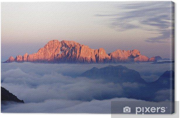 Dolomiti Monte Civetta Canvas Print - Time