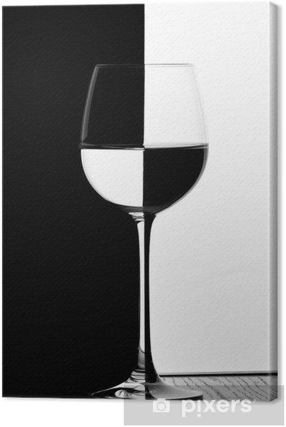 domino wine glass Canvas Print -
