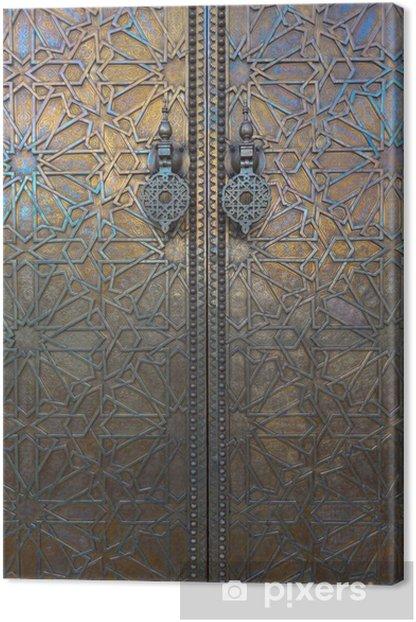 Door at Dar El Makhzen, Morocco Canvas Print - Morocco