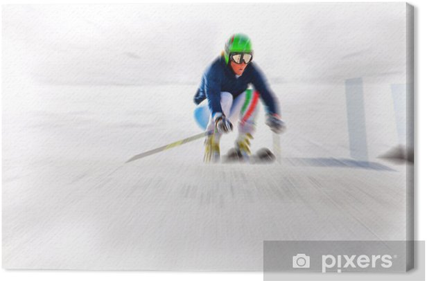 downhill - ski Canvas Print - Individual Sports