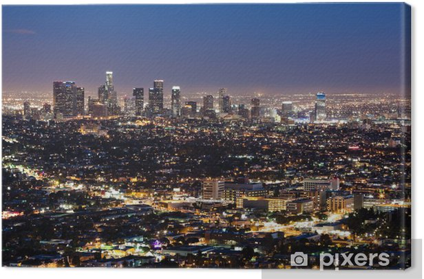 Downtown Los Angeles Canvas Print - Themes