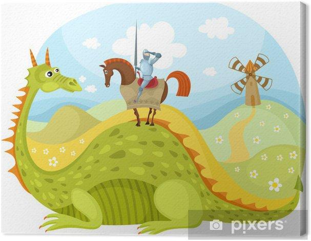 dragon and knight Canvas Print - Men