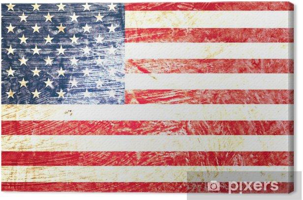 drapeau américain Canvas Print - Themes