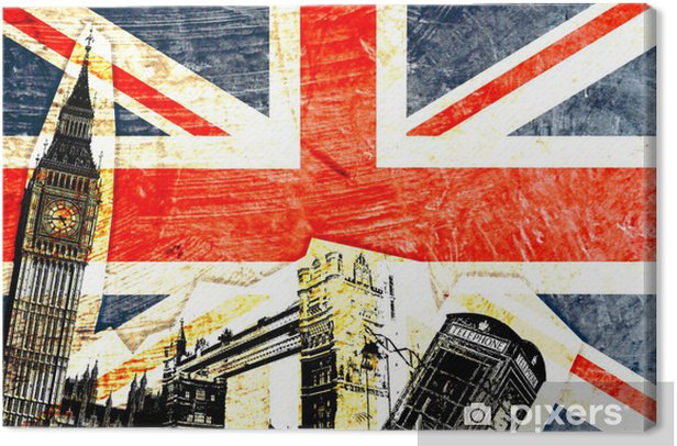 drapeau anglais Canvas Print - Themes