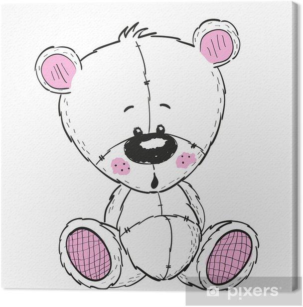 Drawing Teddy Canvas Print - Animals
