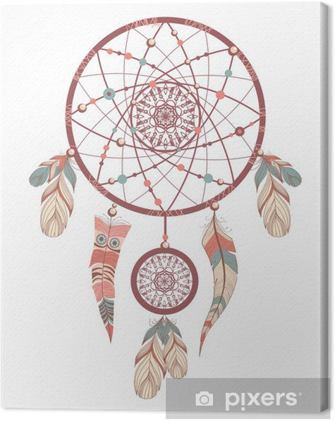 dream catcher. romantic Canvas Print - Outer Space