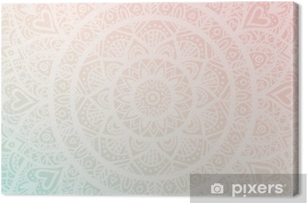 Dreamy Gradient Wallpaper With Mandala Pattern Vector Background For Yoga Meditation Poster Canvas Print Pixers We Live To Change