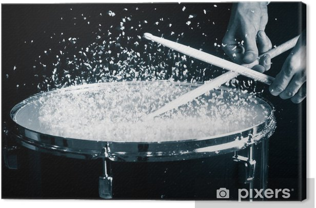 Drum, hand and sticks Canvas Print - Themes