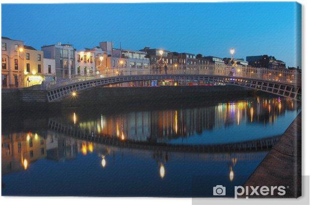 Dublin night scene Canvas Print - Themes