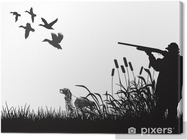 Duck hunting Canvas Print - Outdoor Sports
