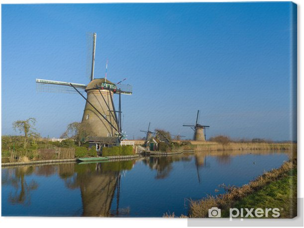 dutch windmills Canvas Print - Infrastructure