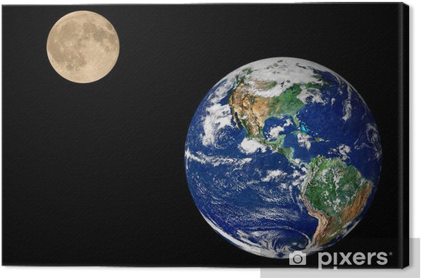 Earth and Moon Canvas Print - Other Feelings