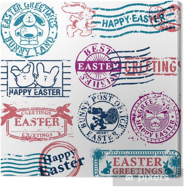 Easter postmark Canvas Print - International Celebrations