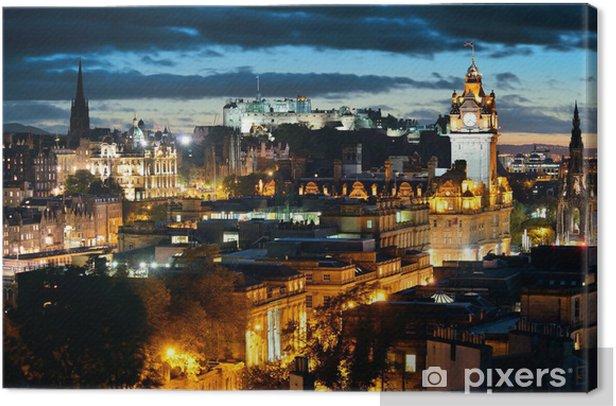Edinburgh night Canvas Print - Themes