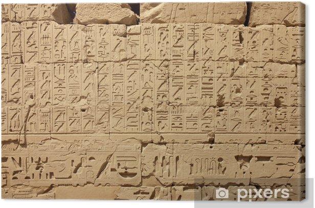 Egyptian hieroglyphs Canvas Print - Monuments