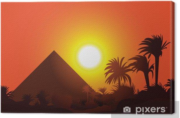 Egyptian landscape Canvas Print