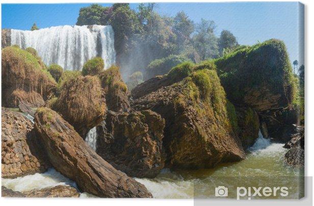 Elephant waterfall in Vietnam panorama Canvas Print - Asia