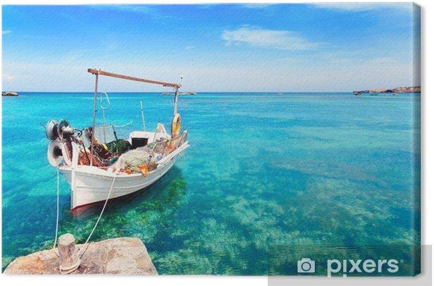 Els Pujols beach in Formentera Canvas Print - Holidays