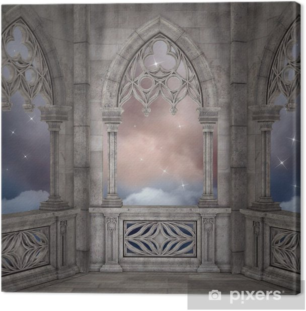 Elven palace background Canvas Print - Themes
