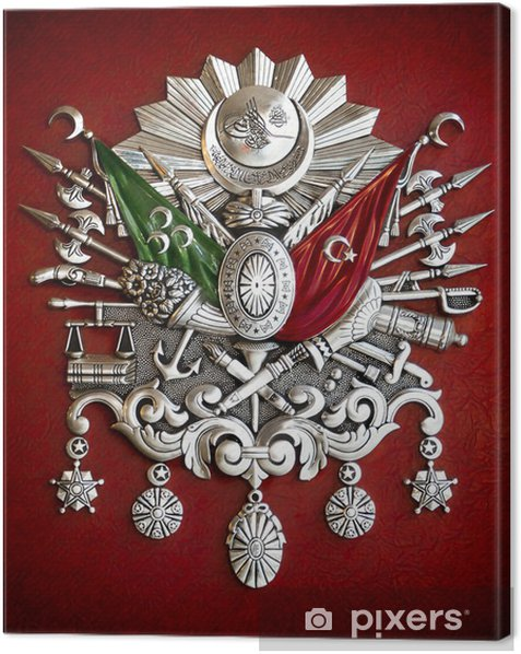 Emblem of Ottoman Empire Canvas Print - Signs and Symbols