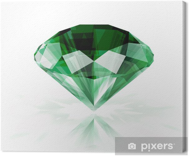 Emerald isolated on white - eps10 Canvas Print - Sales