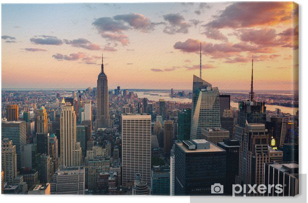 Empire State building Times square Canvas Print - Styles