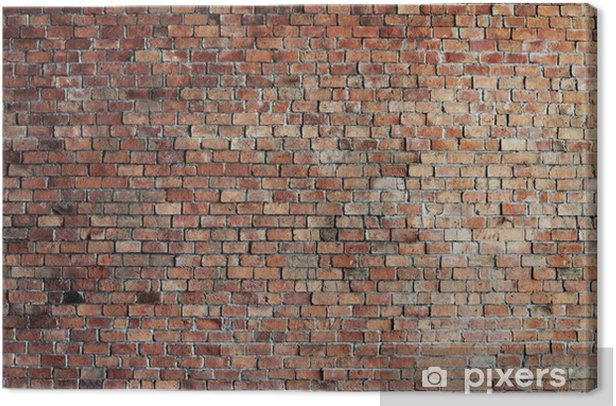 Empty Red Brick Wall Background Canvas Print - Themes