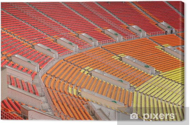 empty stand on the sport arena Canvas Print - Public Buildings