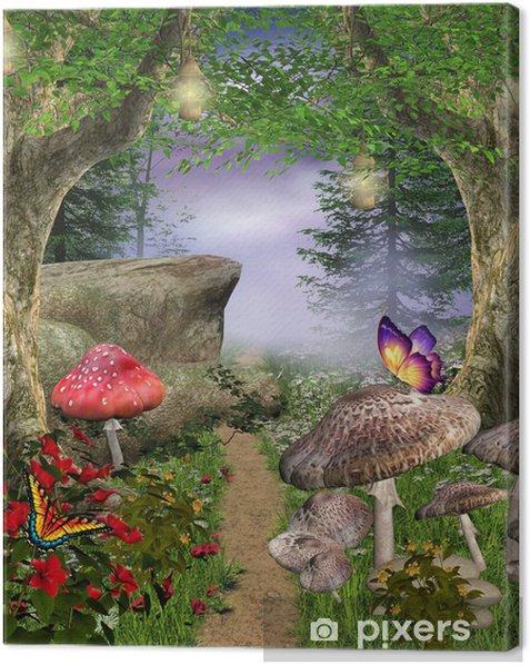 Enchanted nature series - enchanted pathway Canvas Print - Themes