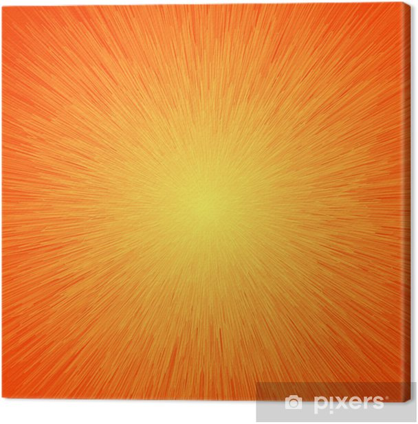 Energy Light Abstract Background In Orange Colors Canvas Print