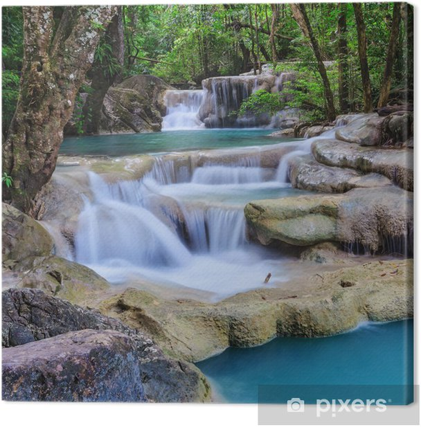 Erawan Waterfall, Kanchanaburi, Thailand Canvas Print - iStaging