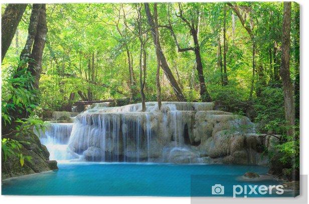 Erawan Waterfall, Kanchanaburi, Thailand Canvas Print - Themes