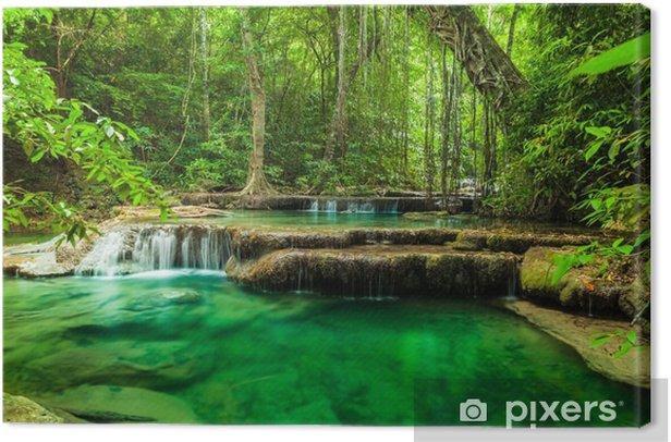 Erawan waterfall. Canvas Print - Themes